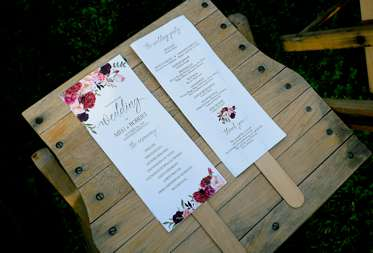 Floral wedding program