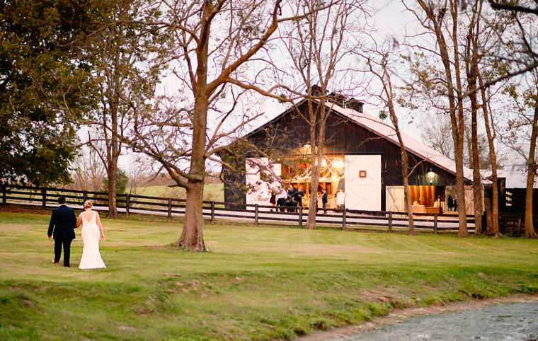 Refined rustic wedding barn