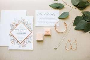 Wedding invitations with Bridal Jewelry