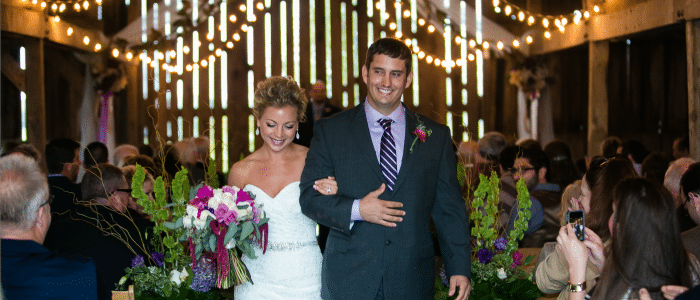 Barn Wedding Ceremony at Warrenwood Manor, Central Kentucky Award Winning Venue