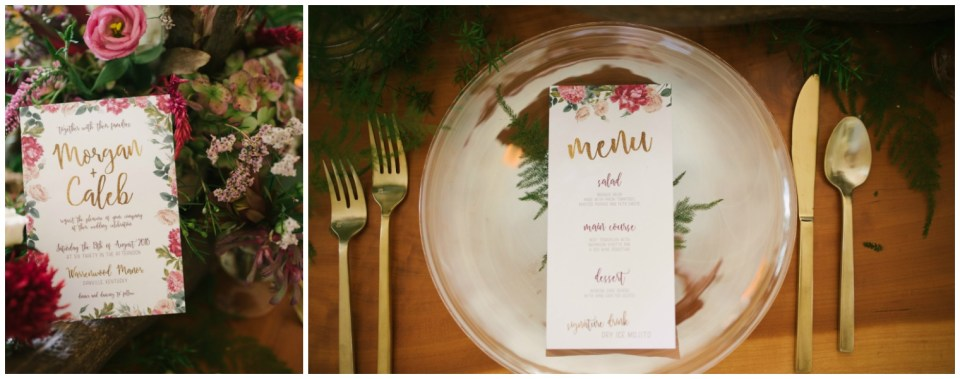 Summer Wedding Table Design and Stationary