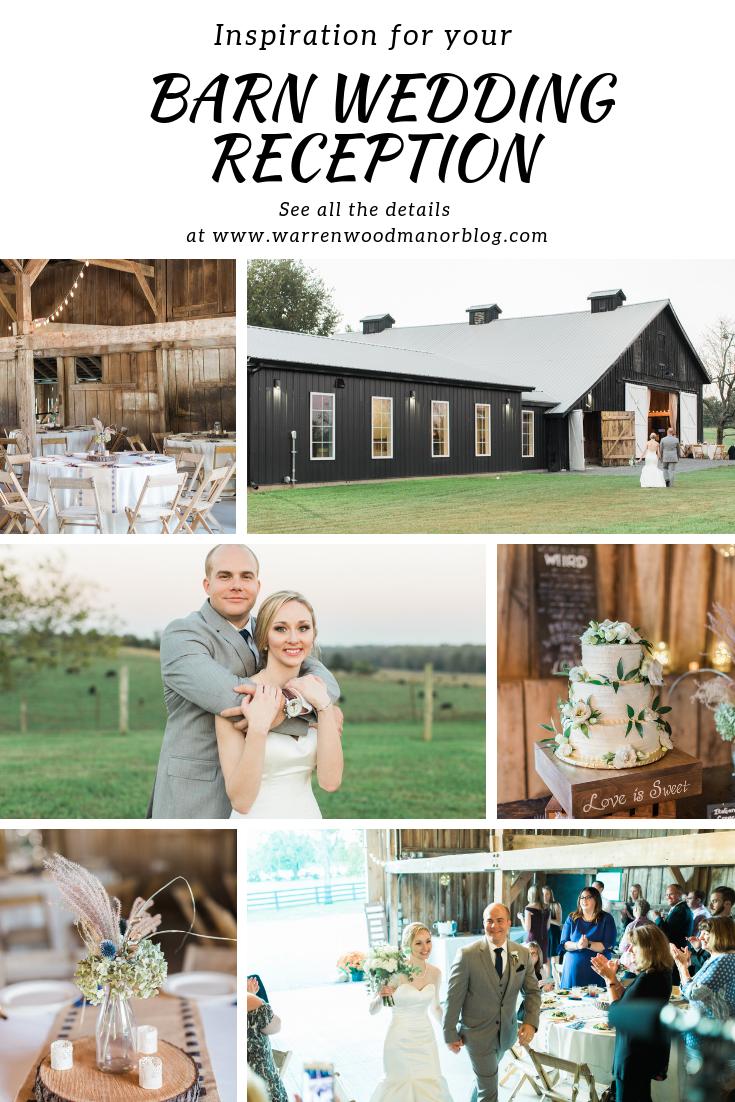 Rustic Elegant Barn Wedding Reception