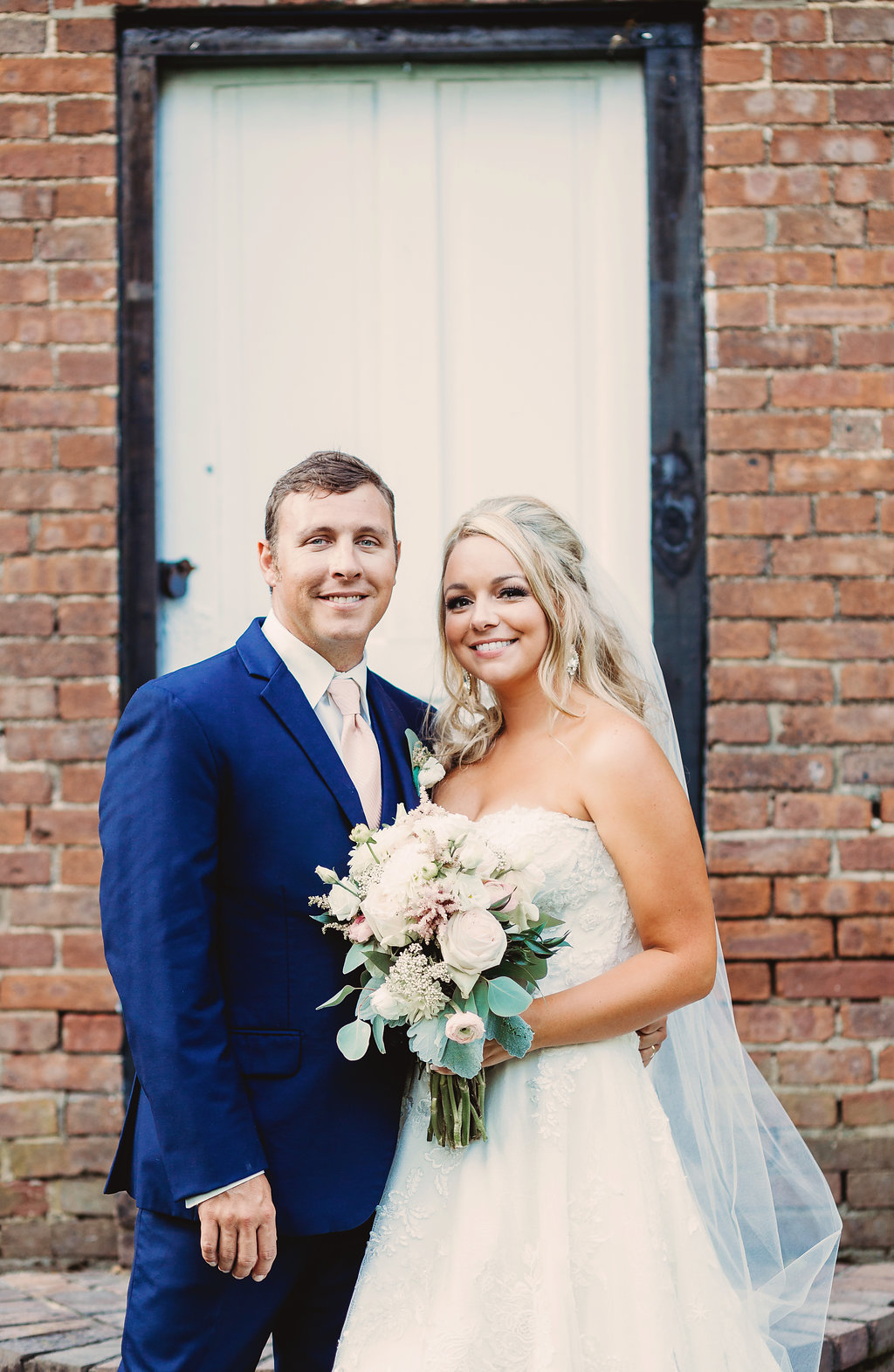 Couple at their country glam Kentucky wedding