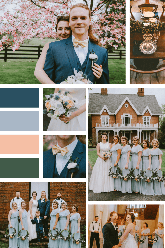 Spring Vintage Wedding Mood Board - Warrenwood Manor - Kentucky Wedding Venue