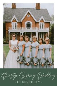 Vintage Pastel Spring Wedding in Kentucky at Warrenwood Manor