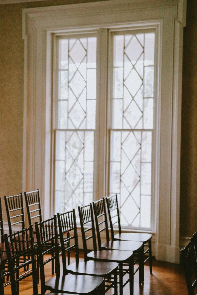 Intimate ceremony at Vintage Spring Wedding - Warrenwood Manor -Kentucky Wedding Venue