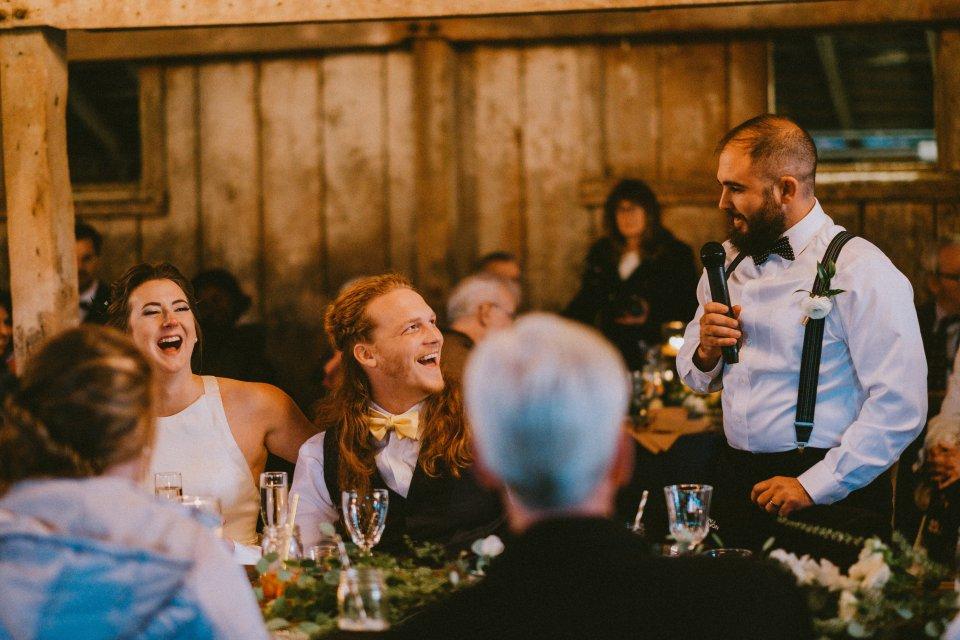 Barn wedding reception at Vintage Spring Wedding - Warrenwood Manor -Kentucky Wedding Venue