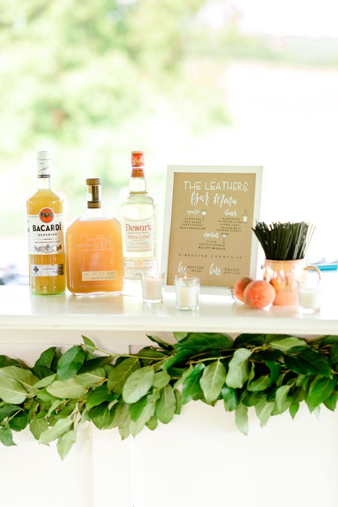 Pastel Spring Southern Chic Wedding at Warrenwood Manor - Kentucky Wedding Venue- Bar Menu