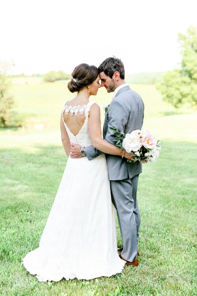 Pastel Spring Southern Chic Wedding at Warrenwood Manor - Kentucky Wedding Venue- Bride & Groom on Estate