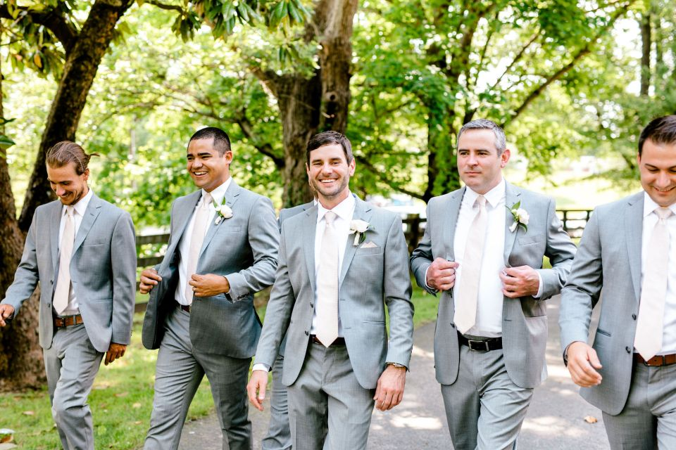 Pastel Spring Southern Chic Wedding at Warrenwood Manor - Kentucky Wedding Venue- Dapper Groomsmen
