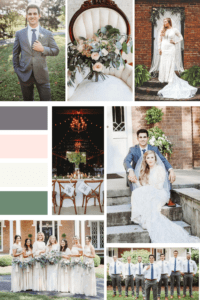Mood Board for Vintage Boho Summer Wedding at Warrenwood in Kentucky