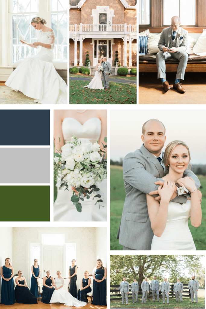 Classic Navy and Grey wedding