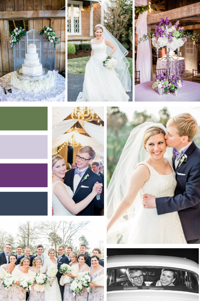 Classy Traditional Purple Wedding