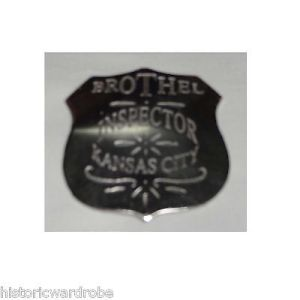 Brothel Inspector Kansas City Replica Sheriff Western Badge Police Marshal