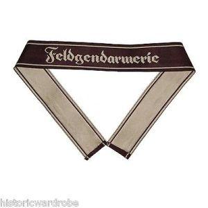 WW2 German Army FELDGENDARMERIE BEVO Cuff Title - Reproduction x 10 UNITS