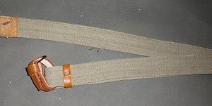WWII Mosin-Nagant Russian Rifle Sling w/Pure Leather Dog Collars - Reproduction