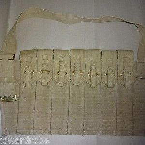 British WWII Sten Gun Seven Pocket Magazine Bandolier - Reproduction