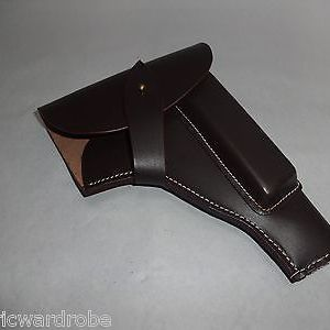 German WWII P35 Radom Leather Holster - Dark Brown Color