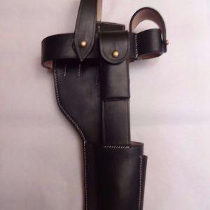 Broomhandle Mauser Black Leather