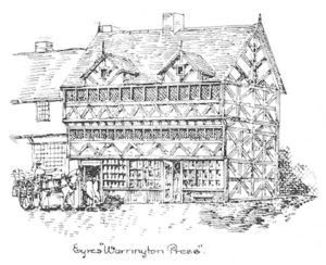 Eyres Press - located close to where Golden Square now stands - and the origin of Warrington's municipal library.