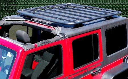 jeep wrangler hard top platform rack kit 2 tall mounts