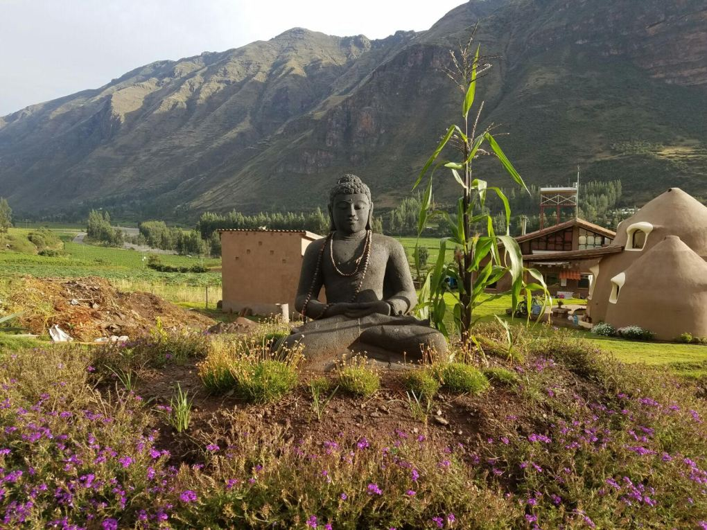 Ashram Temple in the Sacred Valley of the Incas, Pisac, Peru.