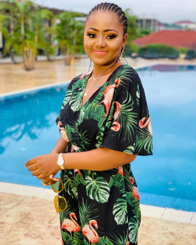 """""""Your love and care makes me want to fall sick every day"""" – Regina Daniels appreciates her fan after surgery"""