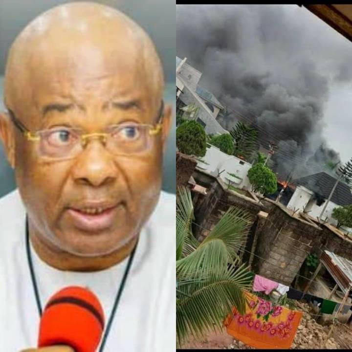 The Governor's House that was set on fire today, see some properties that were destroyed (photos)