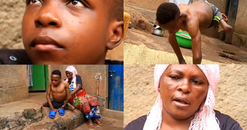 Mother shares heartbreaking story of how her husband abandoned her and their son (Video)