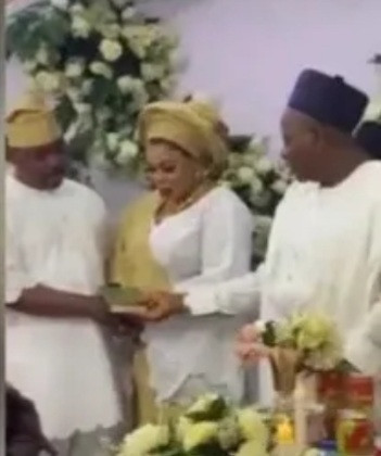Nigerians react as video of NURTW chairman, MC Oluomo marrying a woman who isn't Ehi Ogbebor is shared online (video)