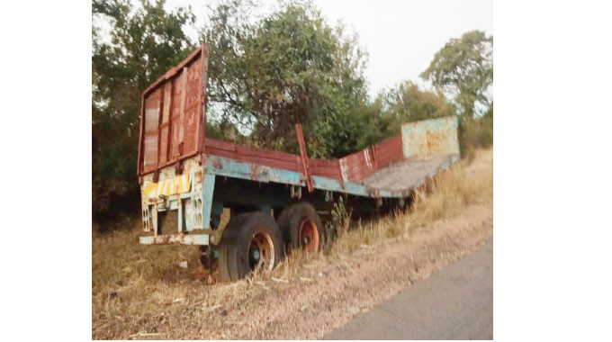 Abandoned trailer found intact after 11 years; villagers claim an invisible hand slaps those that try to steal its parts