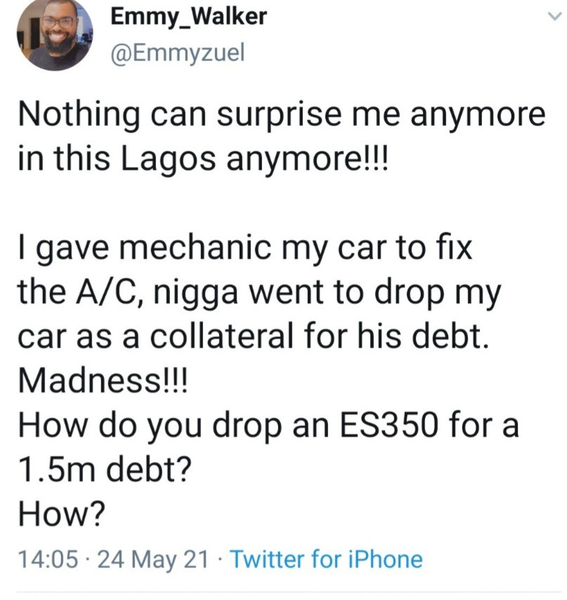 Drama as mechanic uses customer's car as collateral and the creditor has refused to release the car