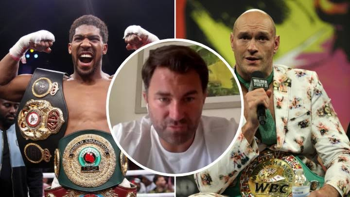"""'You've not only cost me fifty or sixty million dollars, you've cost me the biggest fight of all time"""" - Anthony Joshua's promoter, Eddie Hearn blasts Tyson Fury over failed fight"""