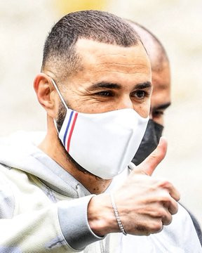 EURO 2020: Karim Benzema arrives at France's Clairefontaine base for his first call-up since 2015 (Photos)