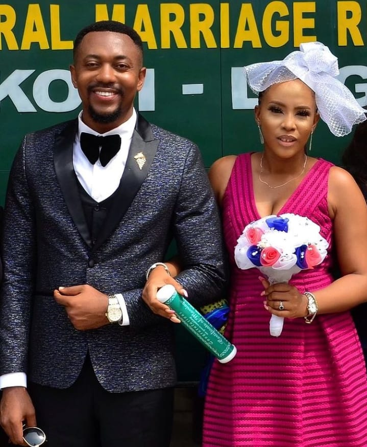 """""""Best decision ever made"""" – Actor Roxy Antax says as he is joined in marital union to his wife"""
