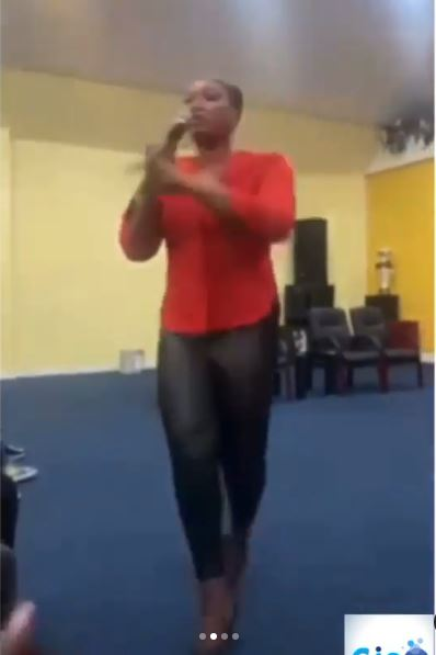 Moment pastor's wife rained curses on members for not contributing money for her birthday (Video)