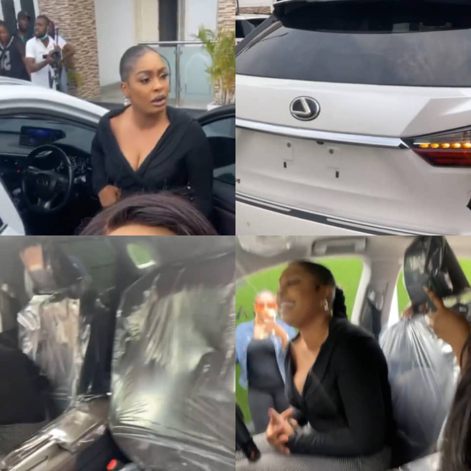 Actress, Nuella Njubuigbo, in 'shock' after gifting herself a brand new Lexus SUV (video)