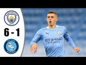 Highlights: Manchester City 6 - 1 Wycombe Wanderers (EFL Cup) 2021/22