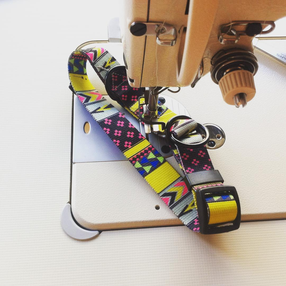 Sewing collar on the morning feels great