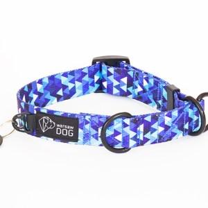 Obroża półzaciskowa dla psa, kolekcja Shine in Blue