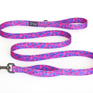 Smycz miejska dla psa, kolekcja Shine in Purple