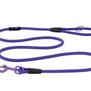 Smycz linowa dla psa, kolekcja Crimson Blue