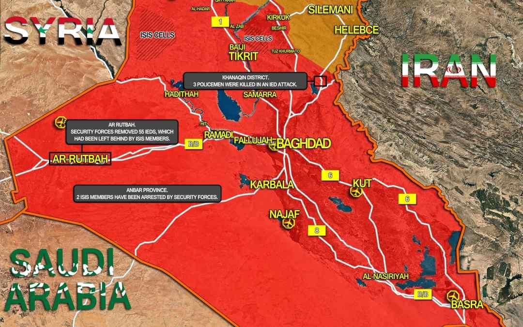 AKTUALIZÁCIA MAPY: VOJENSKÁ SITUÁCIA A OPERÁCIE PROTI ISIS V IRAKU