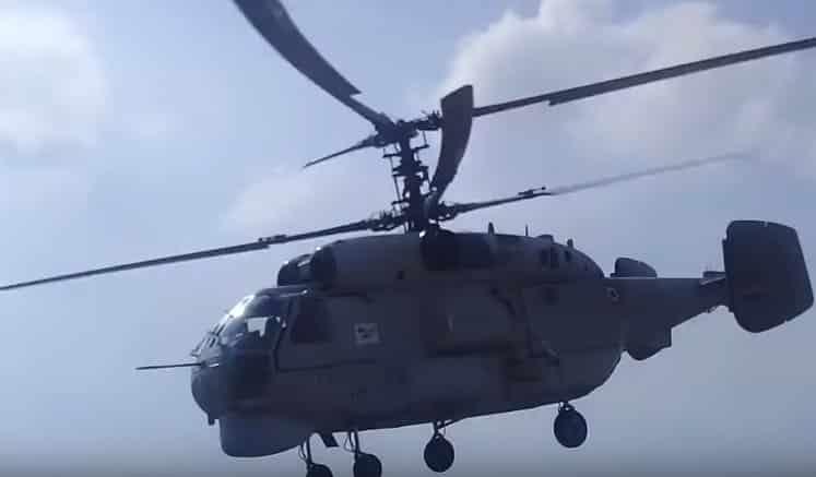 Nový model Kamova KA-28 v Sýrií alebo testovanie novej verzie.
