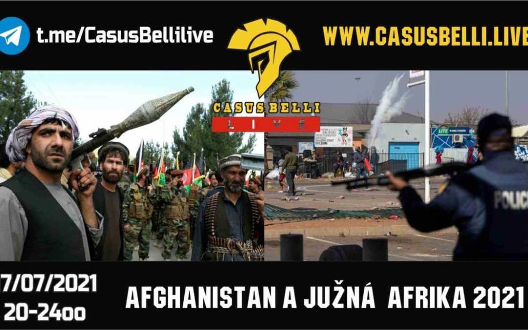 Casus Belli 125 – Novinky, Moslimske bratstvo, Definovanie kto je terorista, Juhoafricka republika, Afghanistan…