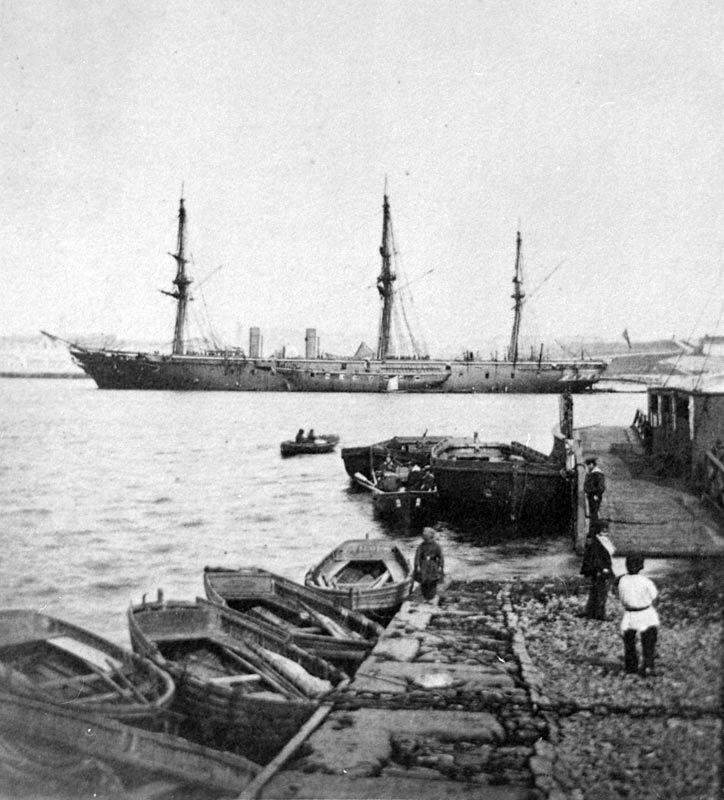 HMS Warrior со спущенными парусами - Казусы эпохи пара и электричества: экстремальное кораблестроение | Военно-исторический портал Warspot.ru