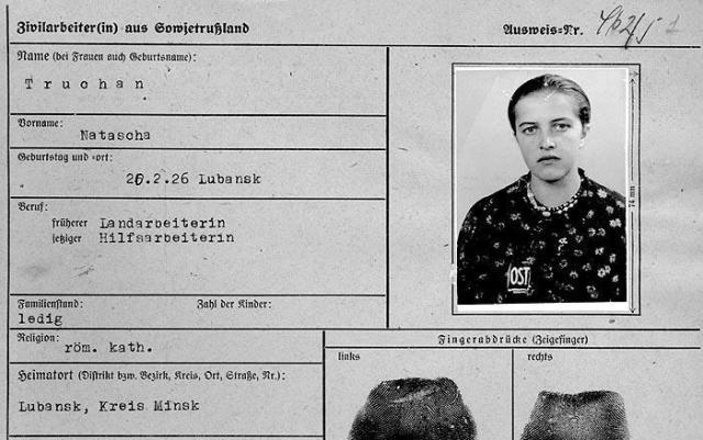 Арбайтскарта остовки. tyt.by - «Восточные работницы» и их дети | Военно-исторический портал Warspot.ru