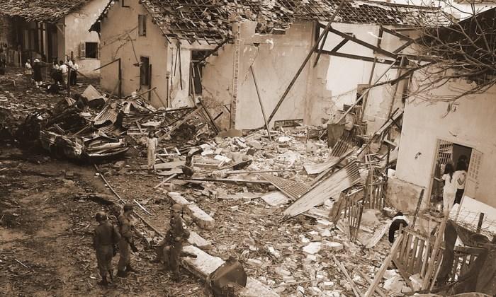 Последствия взрыва в отеле «Бринкс» в Сайгоне, устроенного бойцами Дак Конга (http://www.wikiwand.com)