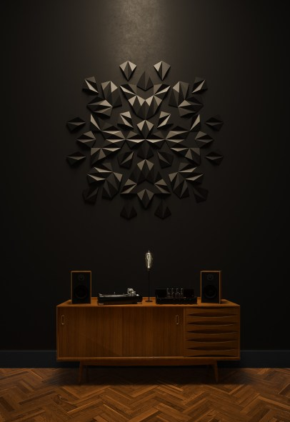 Ornament - wall arrangement by MEWA tiles/ project by Warssawa