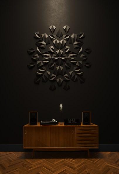 Ornament - wall arrangement by MEWA tiles/ project by Warssawa